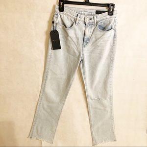Rag & Bone light wash distressed jeans size 26
